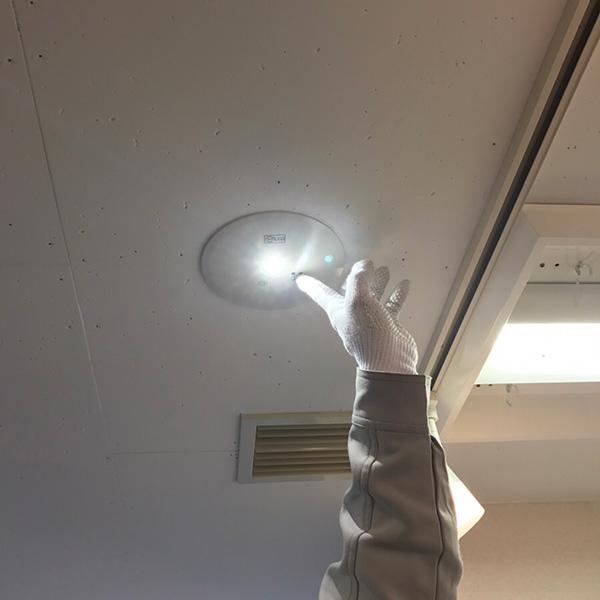 非常灯交換工事 施工後
