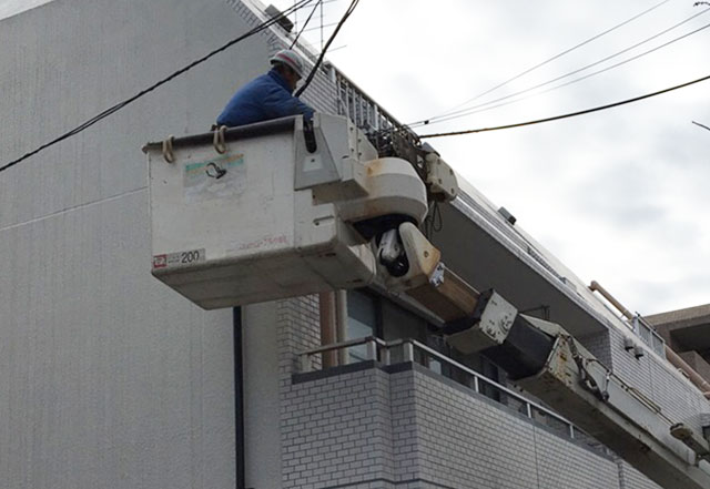 電力会社の動力停止作業